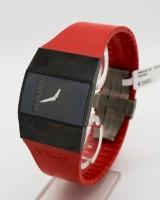 Rado V10K armbåndsur, kvartsurværk, rød kautsjukurrem