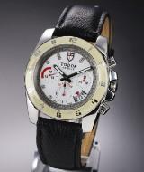 Tudor Grandtour Chronograph men's watch, steel, white dial with diamonds, c. 2015