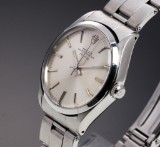 Rolex Air-King Precision. Vintage men's watch, steel with silver-coloured dial, c. 1972