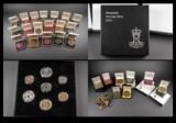 Samling af  mønter og medaljer.