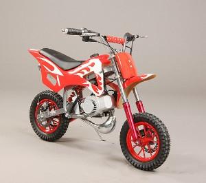 50cc. mini crosser, rød med hvide stafferinger