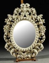 Spegel, gräddvit ram 100x74 cm