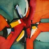 Bozena Ossowski, olie på lærred, 'Colours Of Love'