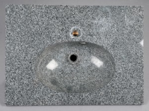 Smuk Slutpris för Bordplade med håndvask, sort granit WJ-55