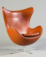 Arne Jacobsen, lounge chair, model Egg Chair, model 3316 for Fritz Hansen