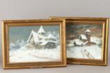 Georg Kosmiadi, Konvolut zweier Zeichnungen, 'Winterlandschaft', 1950 (2)