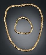 Halscollier og armbånd af guld (2)