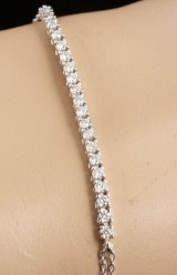 Bracelet in 14k set with brilliant cut diamonds 0.60 ct
