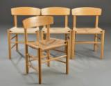 Børge Mogensen. Sæt på fire shakerstole, model J39 (4)