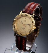 Omega 'Constellation'. Automatic men's watch, 18 kt. gold with original strap and clasp, c. 1985