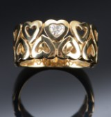 Heart ring with diamond, approx. 0.20 ct.Kranz & Ziegler