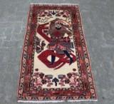 Teppich, Wolle auf Baumwolle, ca. 150 x 80 cm
