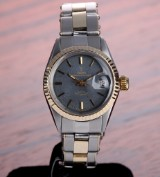Vintage Tudor Princess-Oysterdate ladies' watch, gold and steel, grey dial, c. 1967