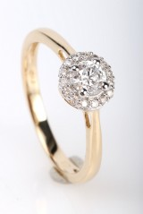Diamond ring, 14 kt. gold, approx. 0.39 ct.