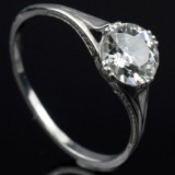 Vintage solitaire ring ca. 1.00-1.10 ct.