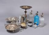 Samling sølvplet m.m. bl.a. plat-de-menage, opsatse, chiffòner m.m. (11)