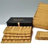 Fire sengesæt af 100% kæmmet bomuld med 400 jacquard trade. Keops Collection, farve: champagne (8)