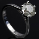 Solitaire ring ca. 2.02 ct.