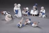 Bing & Grøndahl samt Royal Copenhagen. En samling porcelænsfigurer (8)