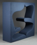Verner Panton. 'Living Tower', Multimøbel, recently reupholstered