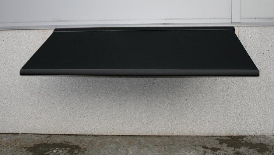 sort markise 4 5 meter hellukket aluminiumskasse motor samt fjernbetjening galvaniserede. Black Bedroom Furniture Sets. Home Design Ideas