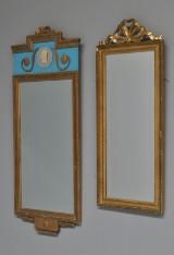 To spejle af guldbronzeret træ. Gustaviansk form. 1900-tallet. (2)