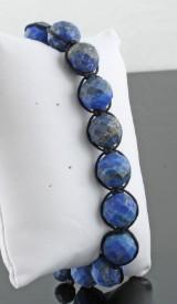 Hand woven lapis lazulli bracelet