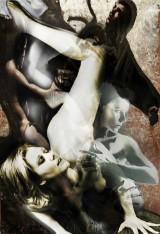 Fredrico de Albinini, blandteknik, 'Love & Hate' 62x90 cm