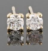 Earrings in 18k set with brilliant cut diamonds 0.70 ct