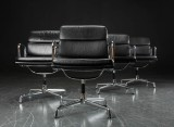 Charles Eames. Four Soft Pad armchairs, Model EA-208 (4)