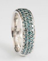 Diamond fancy colour ring approx. 0.76ct