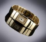 Jaeger-LeCoultre 'Reverso Lady'. Dameur i 18 kt. guld med two-tone skive, ca. 1980'erne