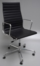 Charles Eames. Office chair, model EA-119, Full Leather