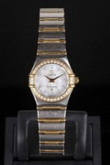 Omega Constellation ladies watch, 18 kt. gold and steel