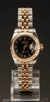 Rolex Datejust, damearmbåndsur, guld og stål