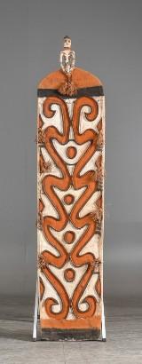 Ocenep, Kasuarinakusten, Asmat, Nya Guinea. Sköld