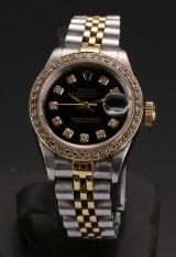 Rolex Datejust damearmbåndsur af stål