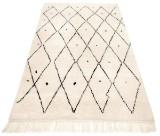 Handknuten Marockansk gallerimatta  134 x 81 cm