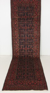 Handknuten äkta matta, Borujerd, 400x100 cm
