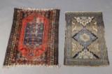 2 antike Teppiche, Kasak Kasachstan 132 x 100 cm und 125 x 81 cm (2)