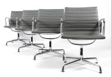 Charles Eames. Four armchairs, model EA-108 (4)
