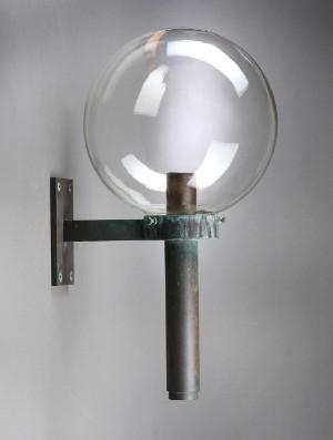 Oppdatert Thorn, Udendørslampe af kobber med kuppel af klart glas | Lauritz.com FK-66