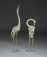 To traner af patineret bronze, 1900-tallets sidste halvdel (2)