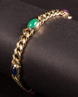 Bracelet with jewels, 585 gold