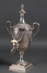 English samovar, silver, Louis Seize, 18th century