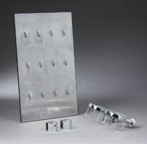 Vola badeværelsesudstyr samt Georg Jensen nøglebræt