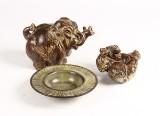 Knud Kyhn m.fl. Kgl. elefant, bjørn og skål, stentøj (3)