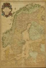 Kort over Norden, 'Carte des Courones du Nord', Amsterdam, 1700-tallet