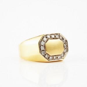 Ring 18 k guld diamanter  e225a3d79b2c9