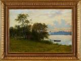 Peter Adolf Persson oljemålning med stockholmsmoti